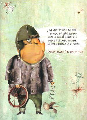 """Ilustración del libro """"El diario del capitán Arsenio"""""""